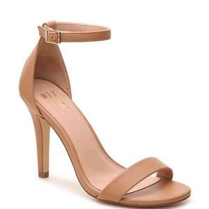 Shoes - Beige strappy heels